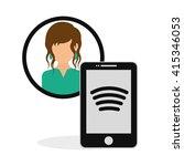social media. multimedia icon.... | Shutterstock .eps vector #415346053