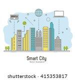 smart city design. social media ...   Shutterstock .eps vector #415353817