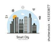 smart city design. social media ... | Shutterstock .eps vector #415353877