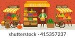 farmers market. local farmer... | Shutterstock .eps vector #415357237