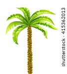 tropical coconut palm tree with ... | Shutterstock .eps vector #415362013