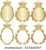 set of isolated royal frames | Shutterstock .eps vector #415364347