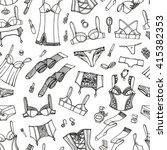 lingerie woman underwear... | Shutterstock .eps vector #415382353