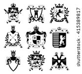 heraldic coat of arms family... | Shutterstock .eps vector #415389817