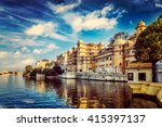 romantic india luxury tourism... | Shutterstock . vector #415397137
