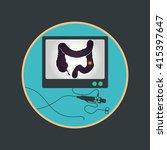 colonoscopy procedure used for... | Shutterstock .eps vector #415397647