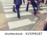 vintage tone of motion blurred... | Shutterstock . vector #415398187