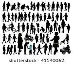 kids  silhouette | Shutterstock .eps vector #41540062