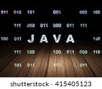 software concept  glowing text... | Shutterstock . vector #415405123