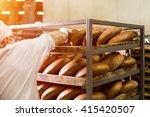Brown Bread On Wooden Rack....