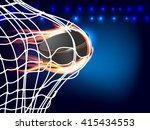 flying burning hockey puck in...   Shutterstock .eps vector #415434553