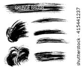 vector set of grunge brush... | Shutterstock .eps vector #415441237