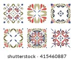 collection of 6 traditional... | Shutterstock .eps vector #415460887