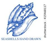 sea shell nature underwater...   Shutterstock .eps vector #415468117
