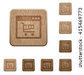 set of carved wooden webshop...