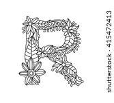 Floral Alphabet Letter Colorin...