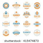 summer holidays design elements ... | Shutterstock .eps vector #415474873
