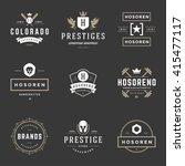 vintage logos design templates... | Shutterstock .eps vector #415477117