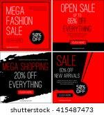 sale instagram banners. black... | Shutterstock .eps vector #415487473