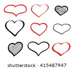 abstract hand drawn doodle... | Shutterstock . vector #415487947