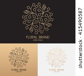 vector template of floral logo... | Shutterstock .eps vector #415490587