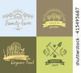 set logos family farm.logo... | Shutterstock .eps vector #415495687