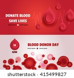 set of two world blood donor...   Shutterstock .eps vector #415499827