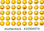 illustration of emoticon set | Shutterstock . vector #415504573
