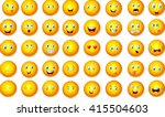illustration of emoticon set | Shutterstock .eps vector #415504603