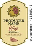 wine label with a picture of... | Shutterstock .eps vector #415505143