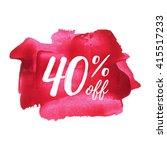 40  off card  poster  logo ... | Shutterstock .eps vector #415517233