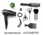 barber set with tools and... | Shutterstock . vector #415548793