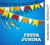 festa junina brazil topic...   Shutterstock .eps vector #415561177