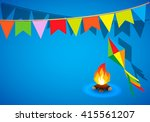 festa junina brazil topic... | Shutterstock .eps vector #415561207