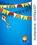 festa junina brazil topic...   Shutterstock .eps vector #415561327