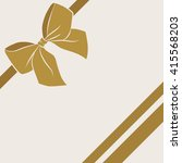 card with satin gold bow and... | Shutterstock .eps vector #415568203