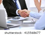 business people shaking hands ... | Shutterstock . vector #415568677