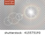 vector transparent sunlight... | Shutterstock .eps vector #415575193