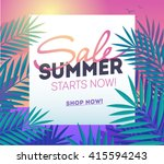 summer sale template poster ... | Shutterstock .eps vector #415594243
