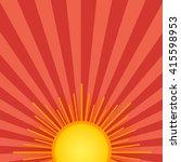 summer shining sun on the sky...   Shutterstock .eps vector #415598953