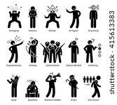 negative bad personalities... | Shutterstock . vector #415613383