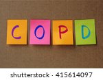 copd  chronic obstructive... | Shutterstock . vector #415614097
