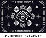 geometric ethnic pattern design ... | Shutterstock .eps vector #415624357