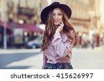 outdoor portrait of young... | Shutterstock . vector #415626997