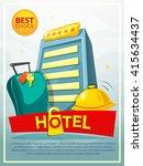 hotel concept design  business...   Shutterstock .eps vector #415634437