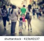 abstract of blurred people on... | Shutterstock . vector #415640137