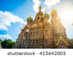 church of the savior on blood... | Shutterstock . vector #415642003