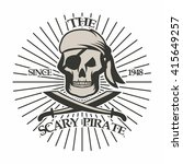 pirate logo template  | Shutterstock .eps vector #415649257