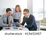 cheerful business people... | Shutterstock . vector #415652407