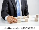 concept of business hierarchy... | Shutterstock . vector #415654993